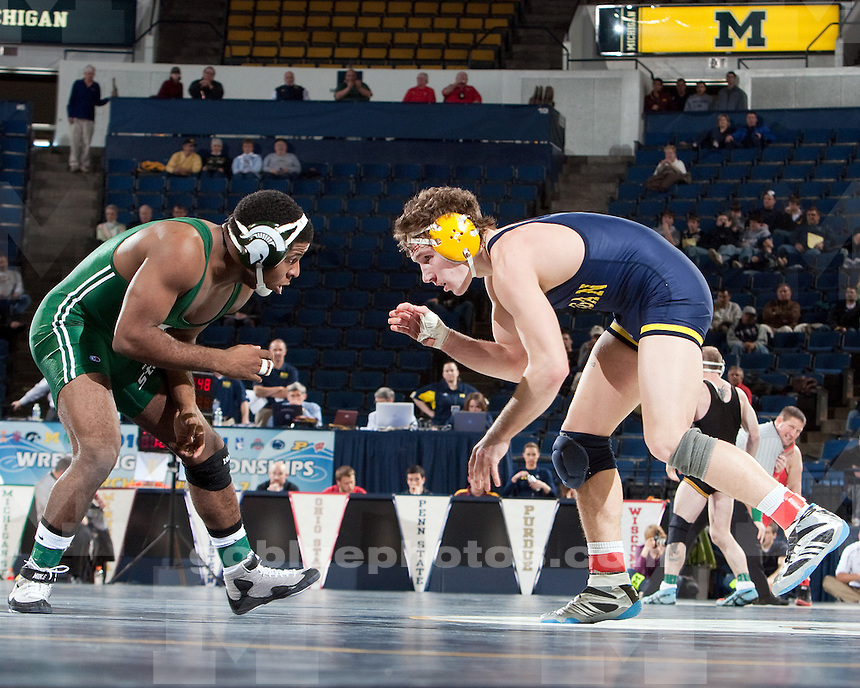 3/6/2010 Big Ten Wrestling Championships at Crisler Arena, rounds 1 and 2.