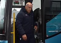 Racing 92 coach Laurent Travers arrives at Parc y Scarlets<br /> <br /> Photographer Ian Cook/CameraSport<br /> <br /> European Rugby Champions Cup - Scarlets v Racing 92 - Saturday 13th October 2018 - Parc y Scarlets - Llanelli<br /> <br /> World Copyright © 2018 CameraSport. All rights reserved. 43 Linden Ave. Countesthorpe. Leicester. England. LE8 5PG - Tel: +44 (0) 116 277 4147 - admin@camerasport.com - www.camerasport.com