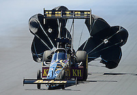 Jul, 22, 2012; Morrison, CO, USA: NHRA top fuel dragster driver Khalid Albalooshi during the Mile High Nationals at Bandimere Speedway. Mandatory Credit: Mark J. Rebilas-