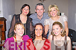 CHRISTMAS TIME: The staff of Tropical Sky, Listowel enjoying a great time at the Station House, restaurant and bar on Saturday seated l-r: Paula Dillon, Yvonne Knott and Aine Reidy. Back l-r: Sinead Gorham, Brian Sargent and Jackie Sheehan.