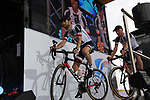 Laurens Ten Dam (NED) Team Sunweb on stage at the Team Presentation in Burgplatz Dusseldorf before the 104th edition of the Tour de France 2017, Dusseldorf, Germany. 29th June 2017.<br /> Picture: Eoin Clarke | Cyclefile<br /> <br /> <br /> All photos usage must carry mandatory copyright credit (&copy; Cyclefile | Eoin Clarke)