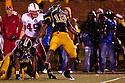 08 October 2009: Missouri linebacker Sean Weatherspoon celebrates his stop on Nebraska's Roy Helu Jr. in the second quarter at at Memorial Stadium, Columbia, Missouri. Nebraska defeated Missouri 27 to 12.