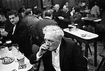 A pint and a smoke, Saturday night at Byker & St. Peters Working Men's Social Club Newcastle upon Tyne, Tyne and Wear northern England 1973.