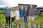 Ciaran Shannon, Marcella O'Flynn, Anna Shannon, Niamh O'Flynn, Jean Earlie, Con O'Flynn at the Official opening of the New Clubhouse at Castlegregory golf course on Saturday.