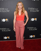 "30 July 2019 - Los Angeles, California - Britt Poulton. ""Them That Follow"" Los Angeles Premiere held at the Landmark Theatre. Photo Credit: Billy Bennight/AdMedia"