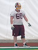 Offensive lineman Spencer Long (60) of Nebraska, who was drafted in the third round of the recent NFL draft, participates in the Washington Redskins' rookie minicamp at Redskins Park in Ashburn, Virginia on Saturday, May 17, 2014.<br /> Credit: Ron Sachs / CNP