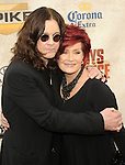 Ozzy Osbourne with Sharon Osbourne at 2010 Spike Guys Choice Awards.