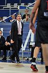 Sergio Scariolo. Partido de Euroliga entre el Real Madrid y el EA7 Armani. 28 de Octubre 2011. La Caja M·gica. Madrid...Photo: Marcos / ALFAQUI