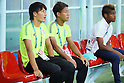 (L to R) <br /> Shinnosuke Nakatani, <br /> Gakuto Notsuda, <br /> Ado Onaiwu, <br /> AUGUST 4, 2016 - Football / Soccer : <br /> Men's First Round Group B <br /> between Nigeria 5-4 Japan <br /> at Amazonia Arena <br /> during the Rio 2016 Olympic Games in Manaus, Brazil. <br /> (Photo by YUTAKA/AFLO SPORT)