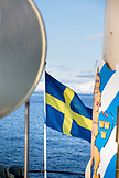 SVALBARD, Longyearban, The swidish Flag on the MS Origo