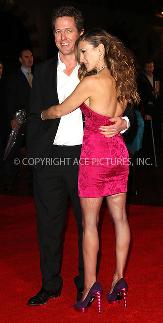 WWW.ACEPIXS.COM . . . . .  ..... . . . . US SALES ONLY . . . . .....December 8 2009, London....Actors Hugh Grant and Sarah Jessica Parker arriving at the Premiere of 'Did You Hear About The Morgans?' at the Odeon Leicester Square on December 8, 2009 in London.......Please byline: FAMOUS-ACE PICTURES... . . . .  ....Ace Pictures, Inc:  ..tel: (212) 243 8787 or (646) 769 0430..e-mail: info@acepixs.com..web: http://www.acepixs.com