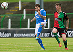 Glentoran v St Johnstone&hellip;. 09.07.16  The Oval, Belfast  Pre-Season Friendly<br />Paul Paton and Karl Hamill<br />Picture by Graeme Hart.<br />Copyright Perthshire Picture Agency<br />Tel: 01738 623350  Mobile: 07990 594431