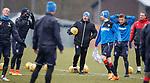 16.3.2018: Rangers training:<br /> Graeme Murty with Kenny Miller, Alfredo Morelos, Jamie Murphy, Greg Docherty and Jonatan Johansson