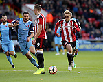 Harry Chapman of Sheffield United running into the box during the Emirates FA Cup Round One match at Bramall Lane Stadium, Sheffield. Picture date: November 6th, 2016. Pic Simon Bellis/Sportimage