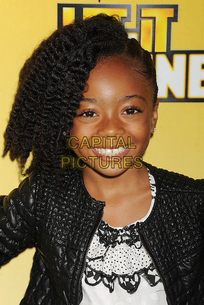 "Skai Jackson.arriving at Disney's Los Angeles Premiere of ""Let It Shine"" at the Directors Guild Of America in Los Angeles, California, USA, June 5th, 2012..portrait headshot black leather jacket .CAP/ROT/TM.©TM/Roth Stock/Capital Pictures"