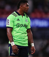 DURBAN, SOUTH AFRICA - MAY 05: Waisake Naholo of the Pulse Energy Highlanders during the Super Rugby match between Cell C Sharks and Highlanders at Jonsson Kings Park Stadium in Durban, South Africa on Saturday, 5 May 2018. Photo: Steve Haag / stevehaagsports.com