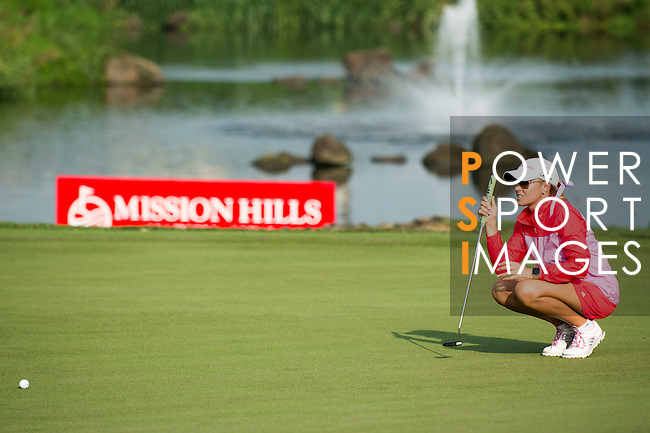 Natalie Gulbis plays during the World Celebrity Pro-Am 2016 Mission Hills China Golf Tournament on 23 October 2016, in Haikou, Hainan province, China. Photo by Marcio Machado / Power Sport Images