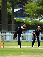 Action from the the New Zealand Secondary Schools 1st XI NZCT girls' cricket national finals match between Tauranga Girls' College and Epsom Girls' Grammar School at Fitzherbert Park in Palmerston North, New Zealand on Sunday, 3 December 2017. Photo: Dave Lintott / lintottphoto.co.nz