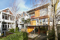 The exterior of the architect Francine Houben's contemporary house in Rotterdam.