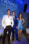 MIAMI BEACH, FL - JUNE 18: Christopher Leavitt, Chad Carroll and Samantha DeBianchi attends Million Dollar Listing Miami Season One VIP Premiere Party at Nikki Beach on June 18, 2014 in Miami Beach, Florida. (Photo by Johnny Louis/jlnphotography.com)