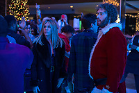 Office Christmas Party (2016)<br /> Jennifer Aniston &amp; T.J. Miller<br /> *Filmstill - Editorial Use Only*<br /> CAP/KFS<br /> Image supplied by Capital Pictures
