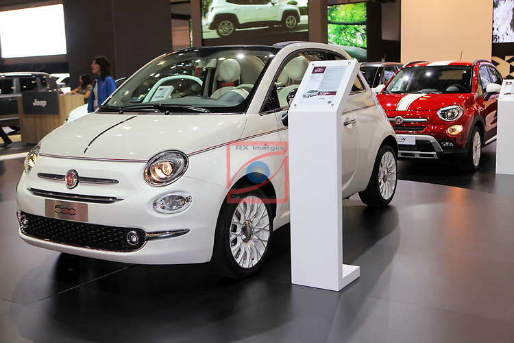 Automobile Barcelona 2017.<br /> Stand Fiat.