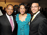 From left: Marcus Smith with Crystal and Randall Wright at the 2010 Power of Legacy Soiree benefitting th American Heart Association at the Hobby Center Friday April 23,2010.. (Dave Rossman Photo)