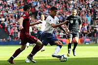 Andrew Robertson of Liverpool and Erik Lamela of Tottenham Hotspur during Tottenham Hotspur vs Liverpool, Premier League Football at Wembley Stadium on 15th September 2018