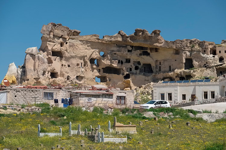 The passage of times is very evident in this village scene in the Cappadocia region.