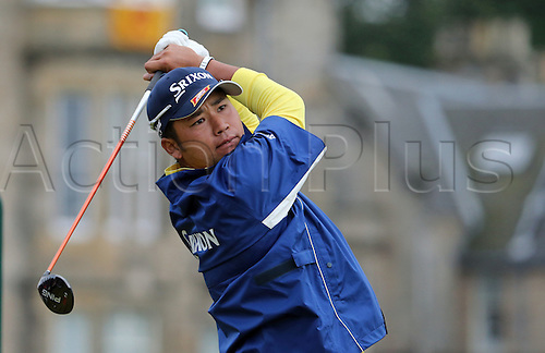 19.07.2015. Old Course, St Andrews, Fife, Scotland.  Hideki Matsuyama of Japan in action on the 2nd<br />  hole during the third round of the 144th British Open Championship at the Old Course, St Andrews in Fife, Scotland.