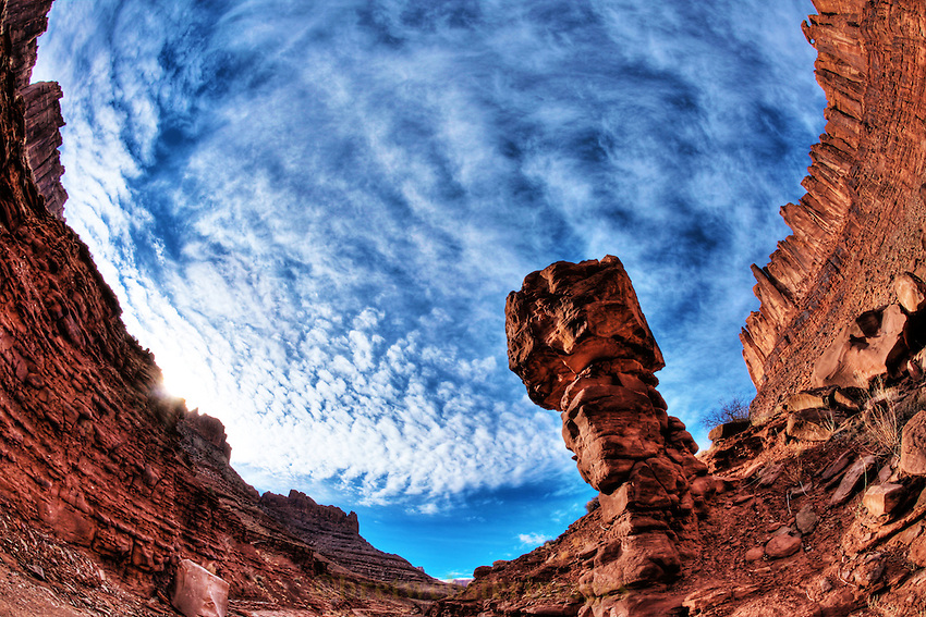 An encompassing canyon view near Canyonlands National Park.