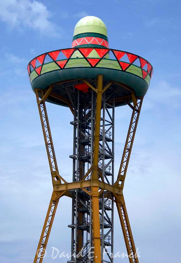 Sombrero look out tower at South of the Border in Dillon, South Carolina