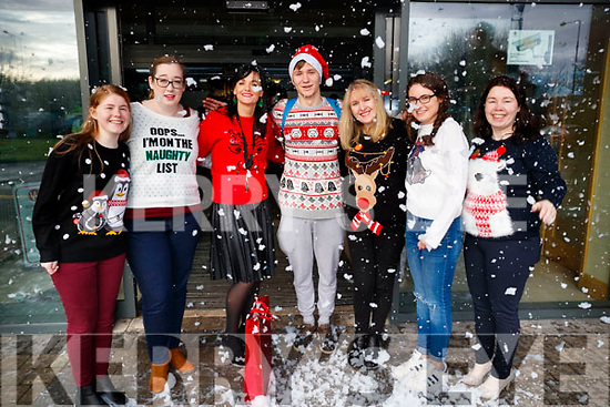 Pictured at Kerry College of Further Education Christmas party on Friday morning last, were l-r: Ciara Malone, Tanya Horan, Mary Lucey (Principle Kerry College of Further Education), Ricards Ancevskis, Anne Carty, Emer Burke, Mary Murphy
