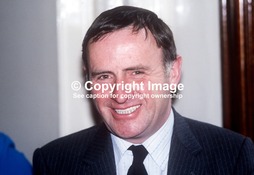 John Carson, Ulster Unionist, elected to new N Ireland Assembly October 1982. 198210000158<br />