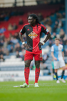 BLACKBURN, ENGLAND - JANUARY 24:   Bafetibis Gomis of Swansea City looks on during the FA Cup Fourth Round match between Blackburn Rovers and Swansea City at Ewood park on January 24, 2015 in Blackburn, England.  (Photo by Athena Pictures/Getty Images)