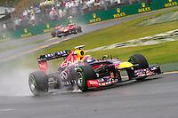 MELBOURNE, AUSTRALIA, 16 MARÇO 2013 - F1 - TREINO CLASSIFICATORIO GP AUSTRALIA -  O piloto australiano Mark Webber da equipe Red Bull durante os treinos classificatórios para o Grande Prêmio da Austrália de Fórmula 1, realizado em Albert Park, na cidade de Melbourne, neste sábado (16). (FOTO: PIXATHLON / BRAZIL PHOTO PRESS).