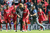 Liverpool manager Jurgen Klopp and Daniel Sturridge of Liverpool after Tottenham Hotspur vs Liverpool, Premier League Football at Wembley Stadium on 15th September 2018