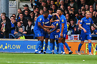 Paul Osew (37) of AFC Wimbledon celebrates his goal in the first half making it 2-0 during AFC Wimbledon vs Rochdale, Sky Bet EFL League 1 Football at the Cherry Red Records Stadium on 5th October 2019