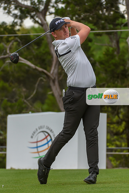 Matthew Wallace (ENG) watches his tee shot on 2 during day 3 of the WGC Dell Match Play, at the Austin Country Club, Austin, Texas, USA. 3/29/2019.<br /> Picture: Golffile | Ken Murray<br /> <br /> <br /> All photo usage must carry mandatory copyright credit (© Golffile | Ken Murray)