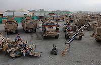 The boys of RC29 Mine detection unit and there vehicles at the jalalabad air base JAF