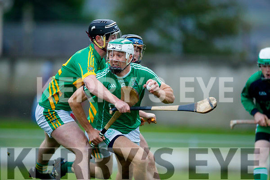 Paud Costello Ballyduff in action against Raymond Galvin Lixnaw in the Senior County Hurling Final in Austin Stack Park on Sunday