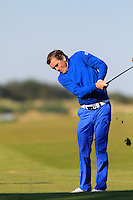 A.P McCoy (AM) on the 11th fairway during Round 2 of the 2015 Alfred Dunhill Links Championship at Kingsbarns in Scotland on 2/10/15.<br /> Picture: Thos Caffrey | Golffile