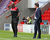 Doncaster Rovers manager Darren Moore shouts instructions to his team <br /> <br /> Photographer David Shipman/CameraSport<br /> <br /> The EFL Sky Bet League One - Doncaster Rovers v Fleetwood Town - Saturday 17th August 2019  - Keepmoat Stadium - Doncaster<br /> <br /> World Copyright © 2019 CameraSport. All rights reserved. 43 Linden Ave. Countesthorpe. Leicester. England. LE8 5PG - Tel: +44 (0) 116 277 4147 - admin@camerasport.com - www.camerasport.com