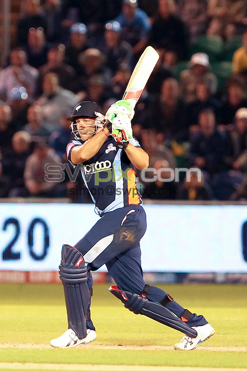 PICTURE BY ALEX WHITEHEAD/SWPIX.COM - Cricket -  FriendsLife T20 Final - Yorkshire Carnegie v Hampshire Royals - Swalec Stadium, Cardiff, Wales - 25/08/12 - Yorkshire's Tim Bresnan hits out.