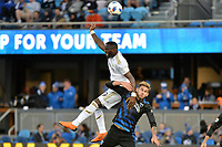 San Jose, CA - Saturday June 09, 2018: Adama Diomande, Yeferson Quintana during a Major League Soccer (MLS) match between the San Jose Earthquakes and Los Angeles Football Club at Avaya Stadium.