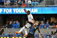 San Jose, CA - Saturday June 09, 2018: Adama Diomande, Yeferson Quintana during a Major League Soccer (MLS) match between the San Jose Earthquakes and Los Angeles Football Club at Avaya Stadium.
