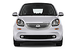 Car photography straight front view of a 2018 Smart fortwo prime coupe 3 Door micro car