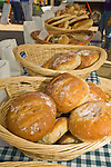 fresh artisan bread for sale at a local farmers market