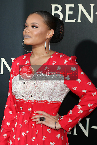 Andra Day<br /> at the &quot;Ben-Hur&quot; Premiere, TCL Chinese Theater IMAX. Hollywood, CA 08-16-16<br /> David Edwards/DailyCeleb.com 818-249-4998