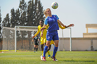 20190306 - PARALIMNI , CYPRUS : Finnish forward Juliette Kemppi pictured during a women's soccer game between Finland and South Africa , on Wednesday 6 March 2019 at the Tassos Markou Stadium in Paralimni , Cyprus.  This last game for both teams which decides for places 9 and 10 of the Cyprus Womens Cup 2019 , a prestigious women soccer tournament as a preparation on the Uefa Women's Euro 2021 qualification duels.PHOTO SPORTPIX.BE | STIJN AUDOOREN
